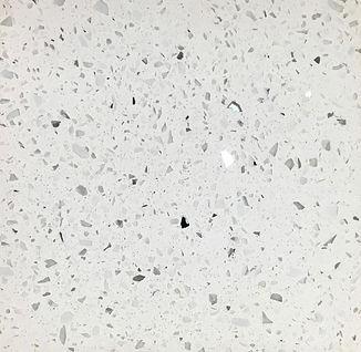 Sparkling White quartz countertop sample