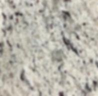 White Ornamental granite countertop sample