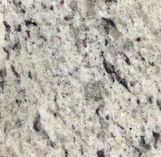 White Ornamental granite countertop sample