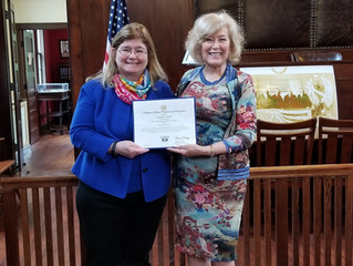 Victoria Crosby Presented with Certificate of Special Congressional Recognition