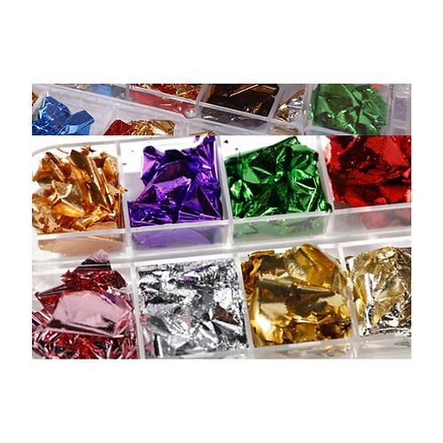 Flakes 04 lot de 12 couleurs
