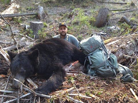 Spring Black Bear killed at 600 yards with one shot from CCS-LR custom rifle package chambered in 7m