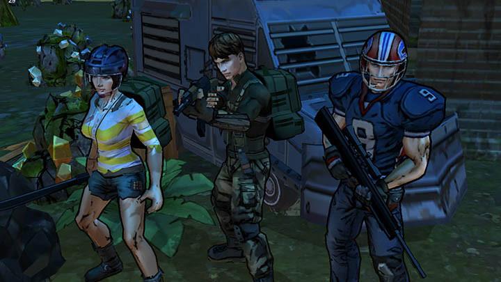 Three survivors ready for battle...