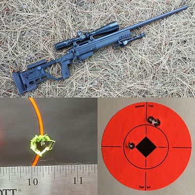Ramrod Tactical custom rifle package chambered in 6.5 Creedmoor with 200 yard 5 shot group and 500 yard 3 shot group
