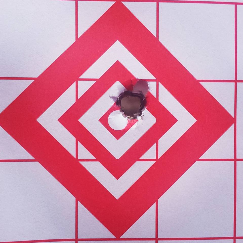 7mm Rem Mag Ramrod Hunter 3 shot group 100 yards with 180 gr Berger VLD.jpg