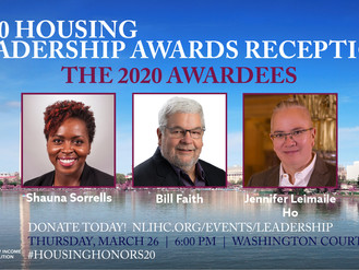 2020 HOUSING LEADERSHIP AWARD RECEPTION - THE AWARDEES