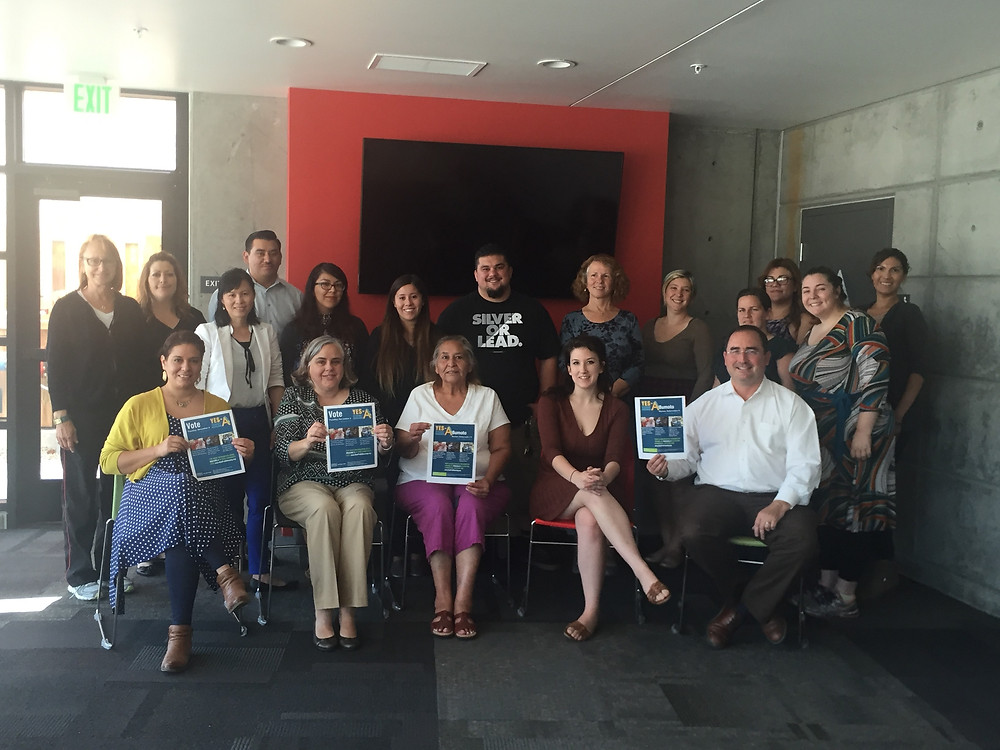 San Jose resident services teams plan voter education and registration with NPH in support of Measure A back in June of 2016.