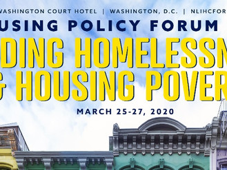 NLIHC Housing Policy Forum 2020 - Features Array of Sessions, Speakers, Panelists  #NLIHCforum20
