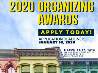 Apply or Nominate for NLIHC 2020 Housing Organizing Awards Today!