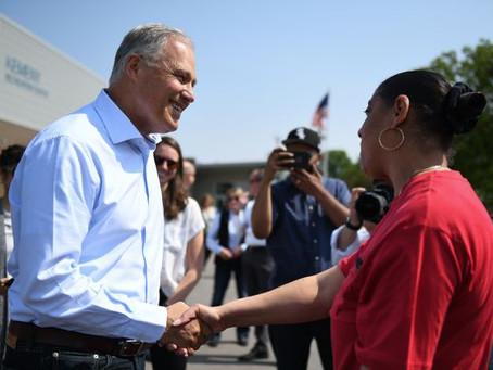 Inslee seeks to push climate change agenda at Detroit presidential debate