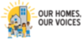 Our Homes, Our Voices Logo