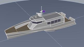 21m Trimaran work boat