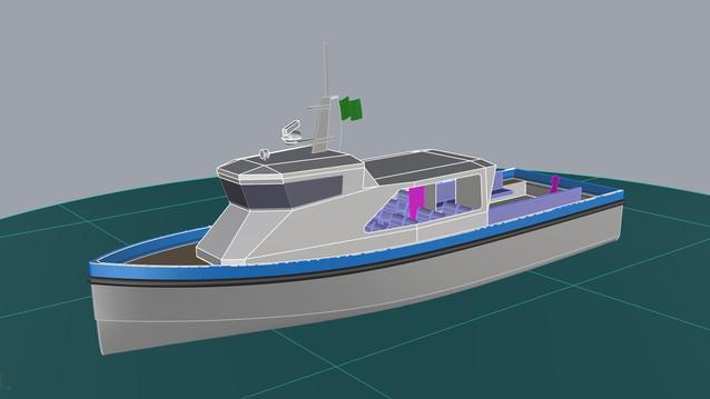 14m Work/crew boat