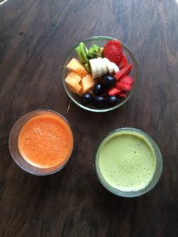 Fresh pressed juices & fruit