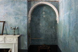The front room wall and alcove