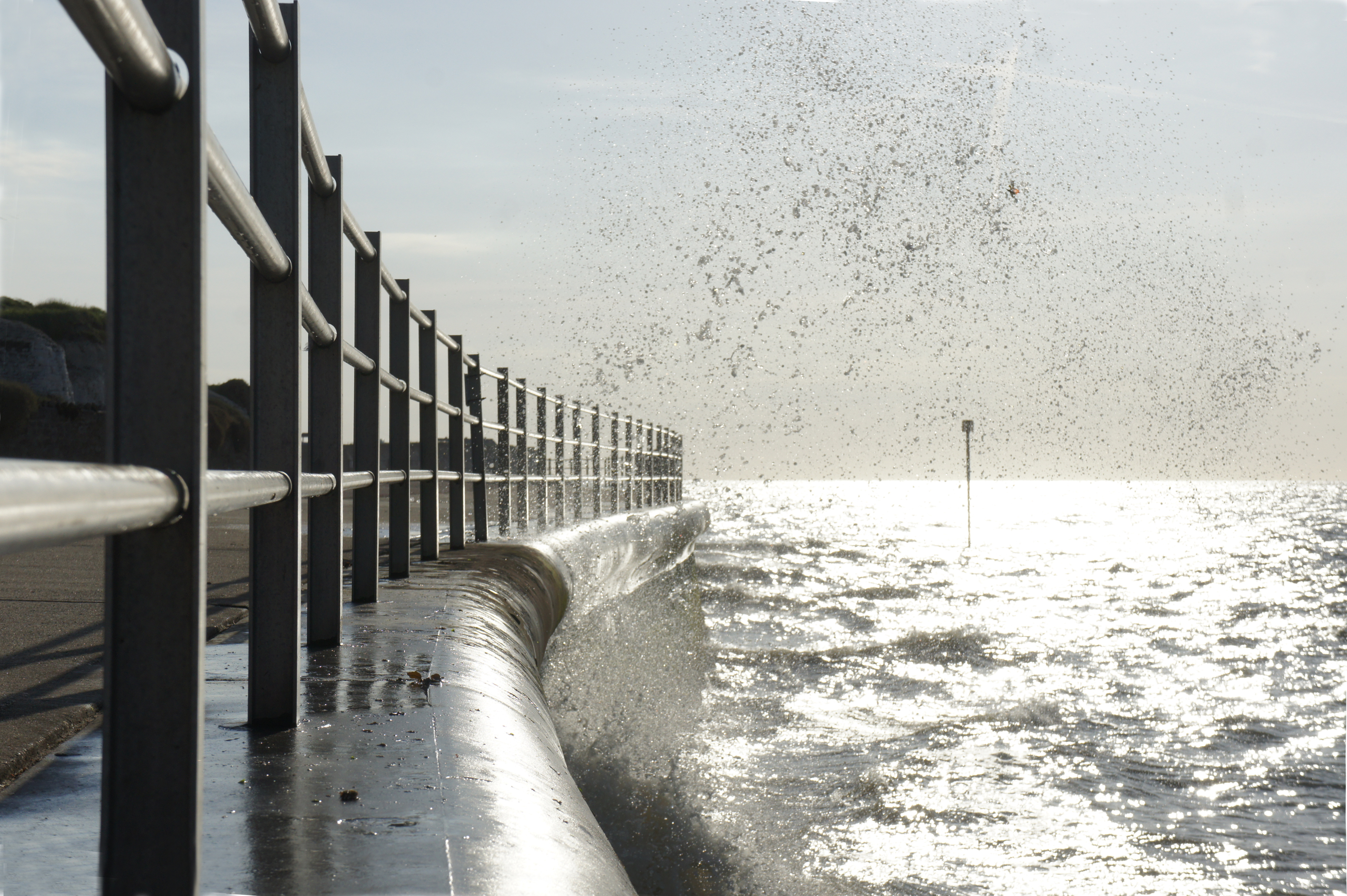 Margate sea wall