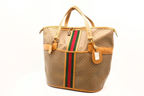 Gucci Sherry Line Vintage Luggage Tote in Coated GG Canvas