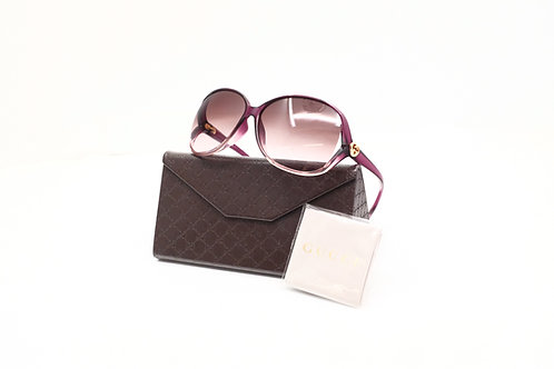 Gucci Sunglasses in Violet Heart GG with Case