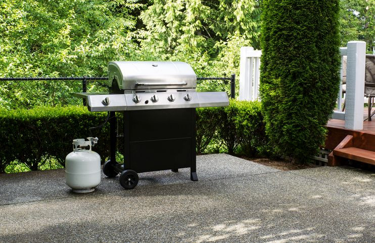Outdoor Propane Grilling