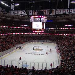 Presenting CO2 Cylinder FX to Chicago vs New York Hockey Game