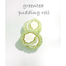 greentea pudding roll