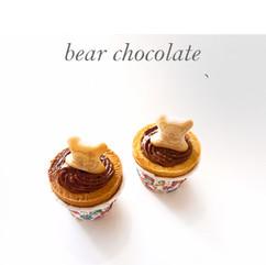 bear chocolate cuptart