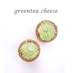 greentea cheese cuptart