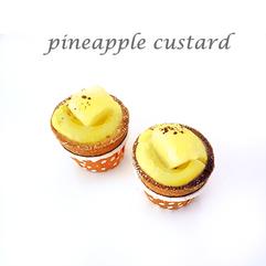 pineapple custard cuptart