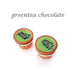 greentea chocolate cuptart