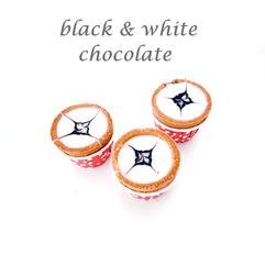 black & white chocolate cuptart
