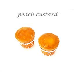 peach custard cuptart