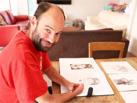 HOMELESS MAN, BORN WITHOUT HANDS, SELLS SKETCHES TO TACKLE HOMELESSNESS