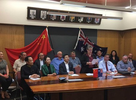 CHINESE INVESTORS PLAN FOR NEW ABATTOIR, CUTS DEAL WITH FLINDERS SHIRE COUNCIL  - QLD