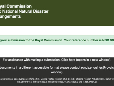Love Australia or Leave Submission: Royal Commission into National Natural Disaster Arrangements