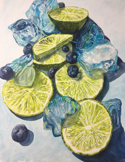 Blueberries, Limes and Ice