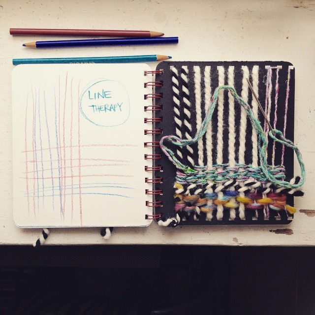 Instagram - #weavers and #fiberartists !! i designed a weavers #artjournal ! mad