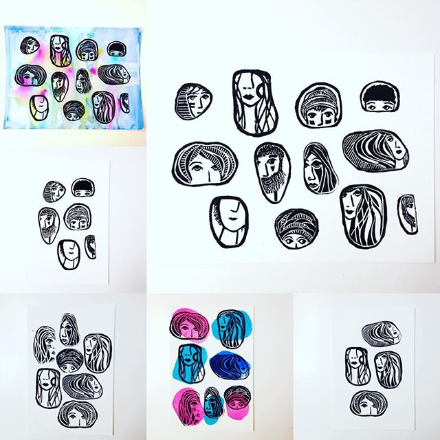 my _stone faces_ series in the shop now.. 💫💫💫_._._._