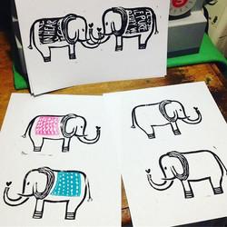 practice #prints .. 💕🐘💕_._._