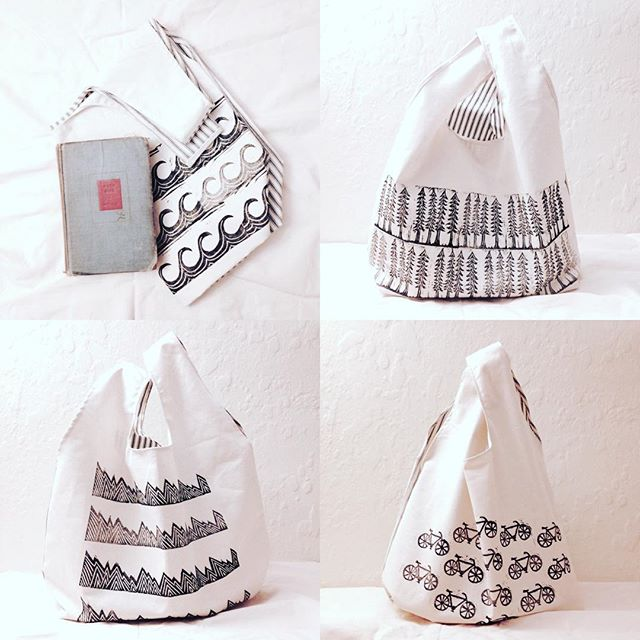 these sweet sturdy canvas #totes are in my #studiogypsy #etsy shop now.. go get'em .. $40+shipping.