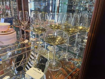 Gold and Pink Christina Rae glassware.jp