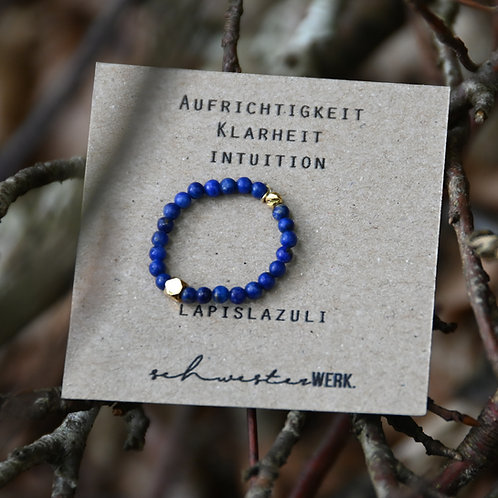 Lapislazuli Ring. Aufrichtigkeit. Klarheit. Intuition.