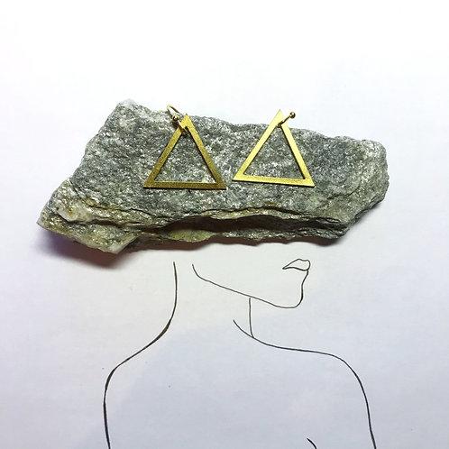 Ohrhänger Gold   Dreieck