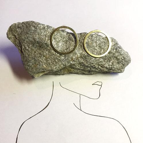 Ohrstecker Gold | grosser Kreis