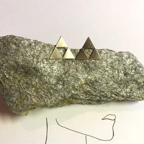 Ohrstecker Rosegold | Dreieck