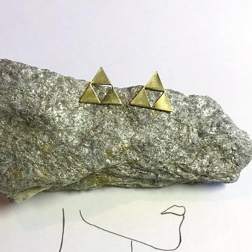 Ohrstecker Gold | Dreieck