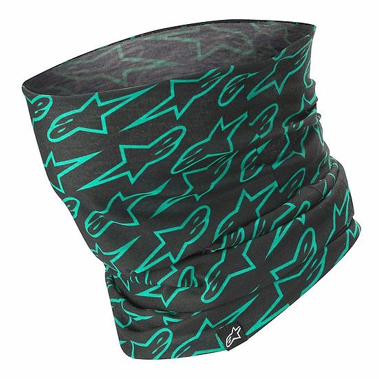 Alpinestars Black/Green Neck Tube