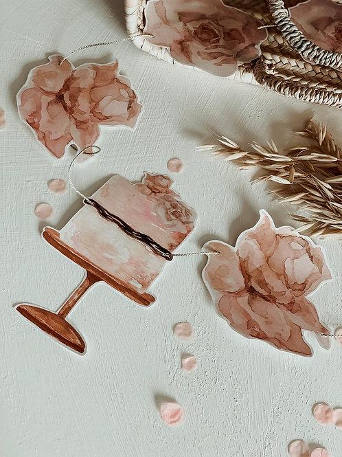 Birthday Roses Garland 3m