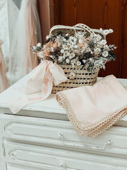 Hello Baby Flower Basket