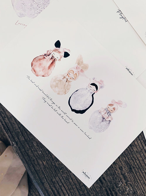 Doll Watercolor Prints