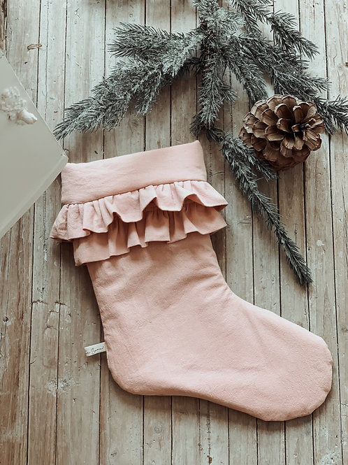 Christmas Feelings Double ruffle Stocking
